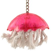 Jellyfish - Refillable Preening Toy for Parrots - Large