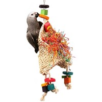 Magic Hat Wood & Rope Parrot Toy