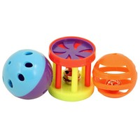 Kings Roll & Ring Foot Toys for Parrots - Pack of 3