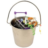 Stainless Steel Foraging Bucket Parrot Toy