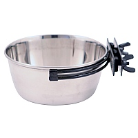 SecuraCup Stainless Steel Coop Cup - 1 Litre - Parrot Bowl