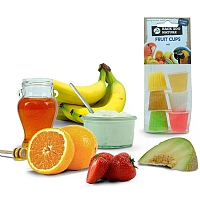 Assorted Fruit Cup Jelly Parrot Treat