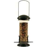 Johnston & Jeff Metal Wild Bird Seed Feeder Green - 2 Sizes