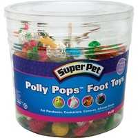 Polly Pops Foot Toys for Parrots - Tub of 60