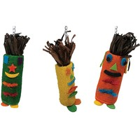 Tiki Time Tube Hanging Toys for Medium Parrots