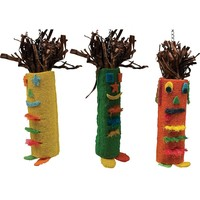 Tiki Time Tube Hanging Toys for Large Parrots