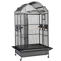 King`s Cages Model 306 Parrot Cage - Black/Silver