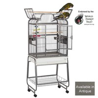 Drake Open Top Parrot Cage - Antique