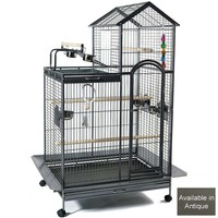 Ventura Parrot Cage with Play Gym Top - Antique