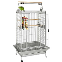 Cambridge Play Gym Top Parrot Cage - Stone