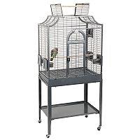 Amazona 1 Solid Top Parrot Cage and Stand - Antique