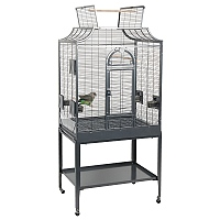 Amazona 2 Solid Top Parrot Cage and Stand - Antique