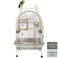 Santa Marta 1 Large Dome Top Opening Parrot Cage - 2 Colours