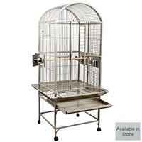 Santa M Dome Top Parrot Cage - Stone