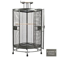 Montreal Corner Cage with Play Gym - Medium - Antique