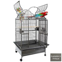 Ara 1 Top Opening Parrot Cage - Antique