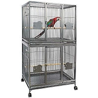 Parrot Double Cage - Antique