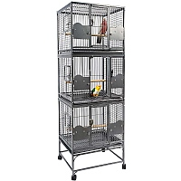 Parrot Triple Cage - Antique