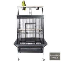 Niagara Play Gym Top Parrot Cage - Antique