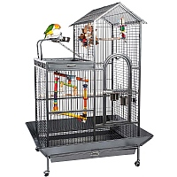 Angel Parrot Cage with Play Gym Top section - Antique