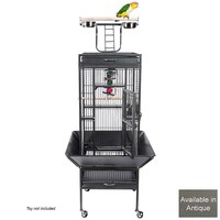 Eden Play Gym Top Small Parrot Cage - Antique