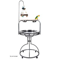 Forest Round Parrot Play Stand - Antique