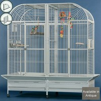 Montana Pallace I Large Parrot Cage With Divider - Antique