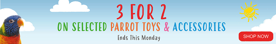3 for 2 on Parrot toys and accessories