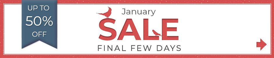 Final few days of our January Sale