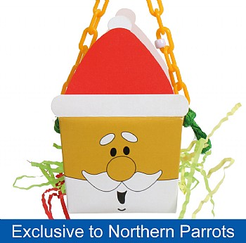 Santa Foraging Goodie Box Chewable Parrot Toy