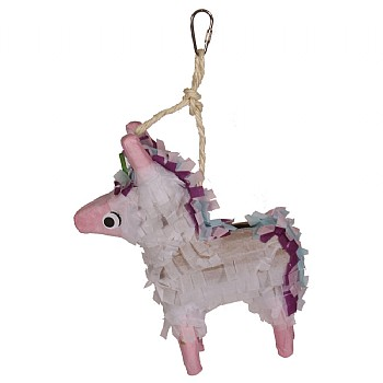 Unicorn Pinata Chewable Foraging Parrot Toy