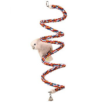 Parrot Boing - Cotton Spiral Bouncing Perch - Large