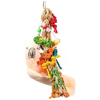 Preening Paradise Rope Parrot Toy
