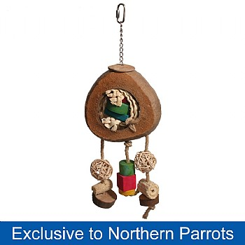 Coconut Eclipse Natural Parrot Toy