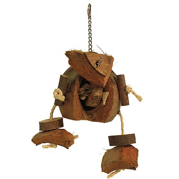 Coco Da Nut - Natural Parrot Toy - Large