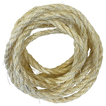 Natural Sisal Rope Parrot Toy Making Part - 6mm x 3m