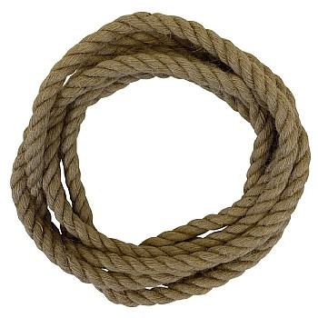 Natural Jute Rope Parrot Toy Making Part - 10mm x 3m