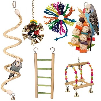 Northern Parrots Budgie Parrot Toy Pack