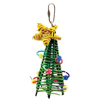 Mini Vine Christmas Tree Parrot Toy