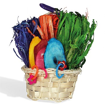 Mini Foraging Basket Parrot Toy