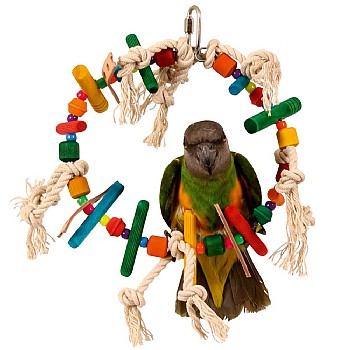 Block Ring Parrot Toy