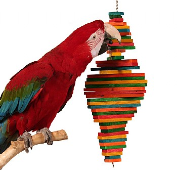 Zoo Max Cocotte - Wooden Chewable Parrot Toy - Medium