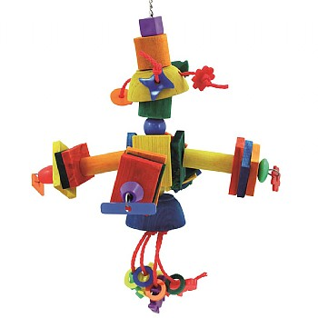 The Satellite - Wood and Rope Parrot Toy
