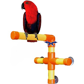 Zoo Max Shower & Window Parrot Perch - Medium