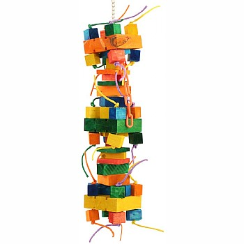 Metropolis Tower Chewable Wood Parrot Toy - Giant