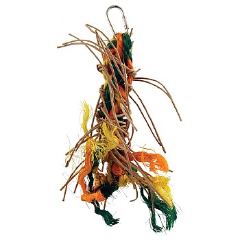 Plaited Preener Paper Rope Parrot Toy - Extra Small