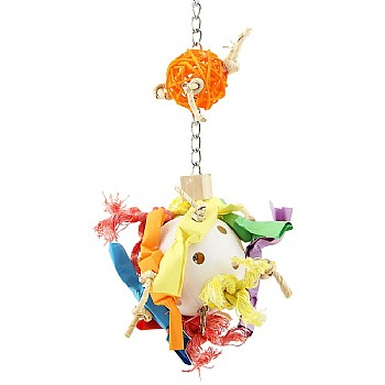 Paradise Toys Candy Crunch Ball Parrot Toy - Medium