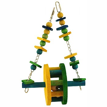 Paradise Toys Ferris Wheel Swing Parrot Toy - Large
