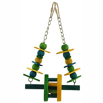 Paradise Toys Ferris Wheel Swing Parrot Toy - Small