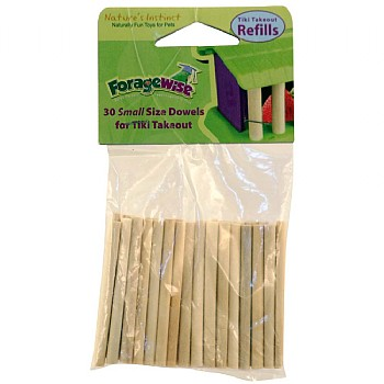 Refill Pack - 30 Small Dowels for House of Treats Toy
